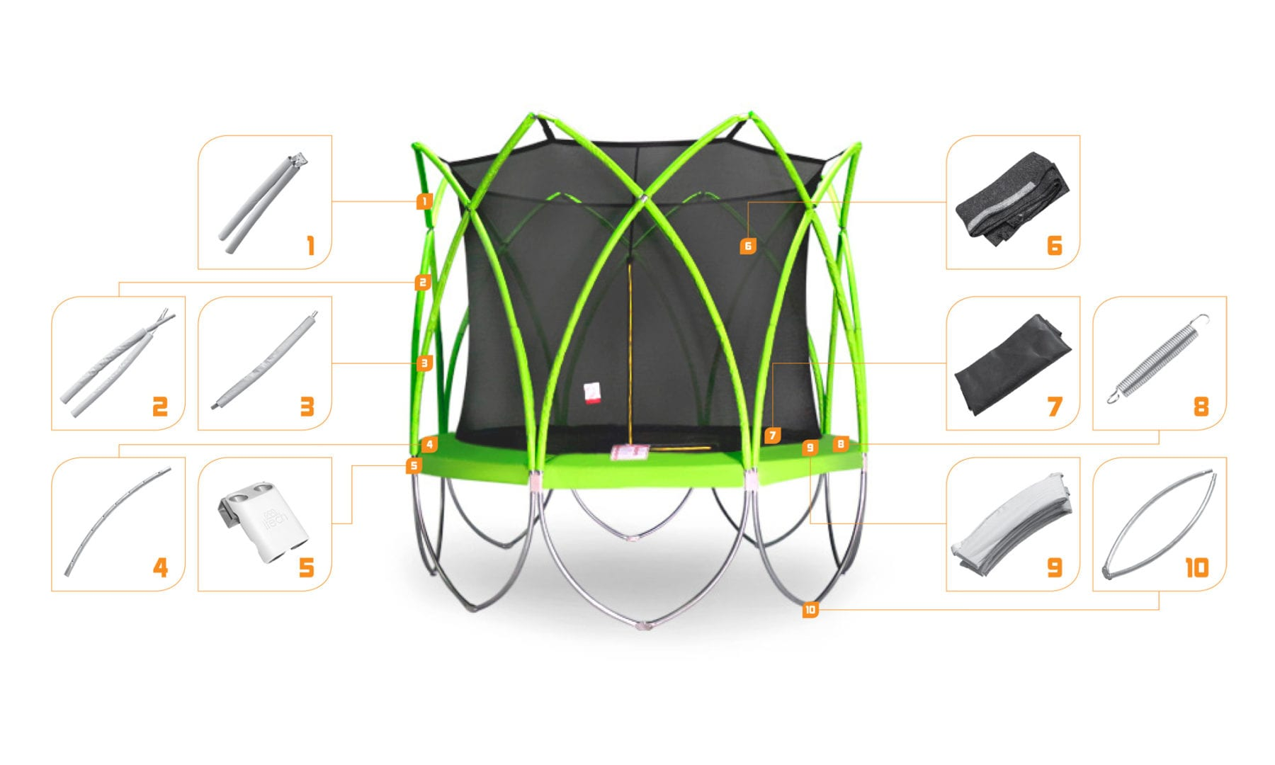 SPART trampolines spare parts